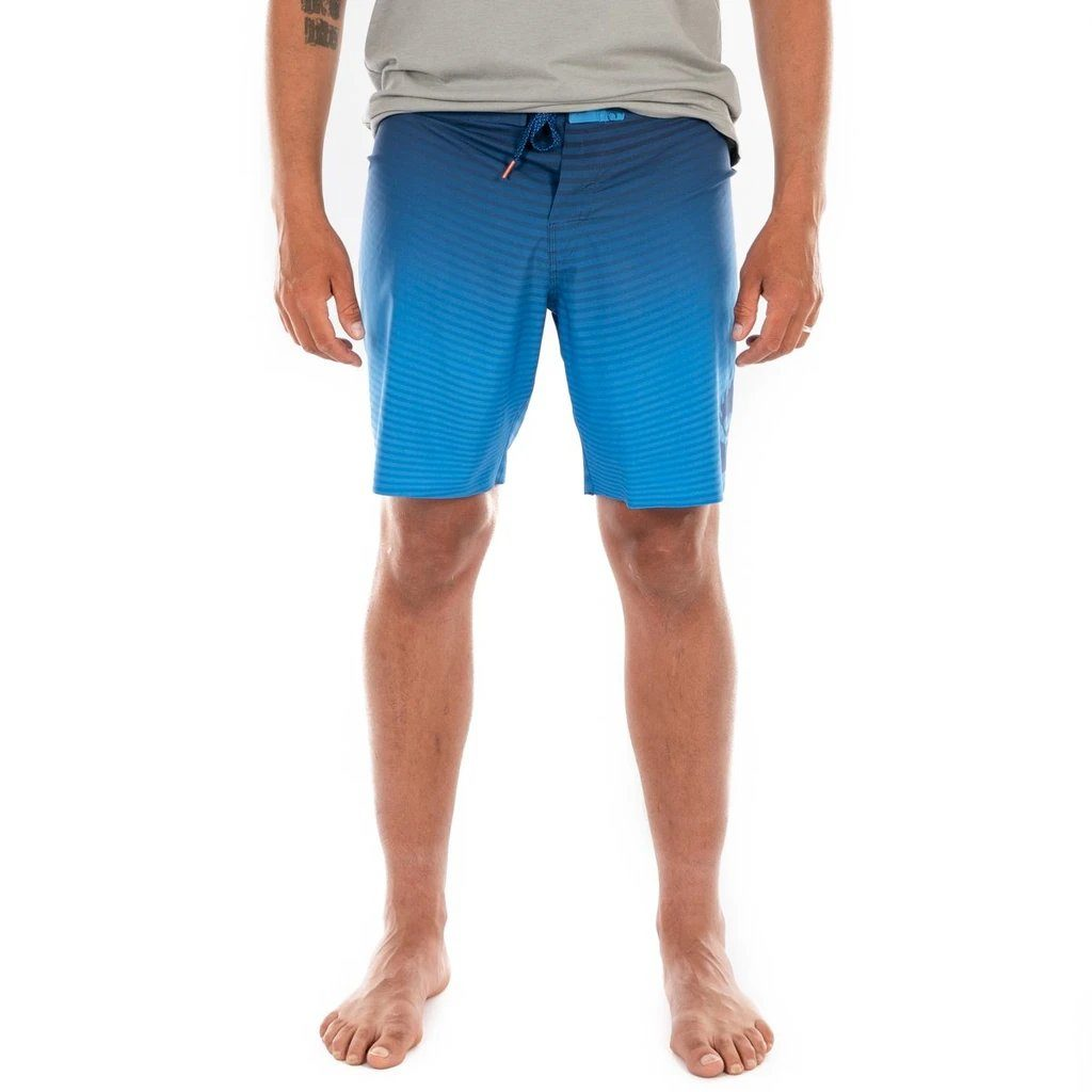 DNA Flame - Men's Recycled 4-Way Stretch Boardshorts - Blue