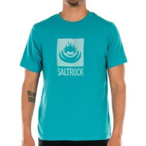 Shockwave Flame - Men's Recycled SPF T-Shirt - Turquoise